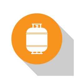 White propane gas tank icon isolated on white vector