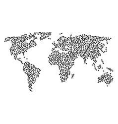 World map mosaic hint icons vector