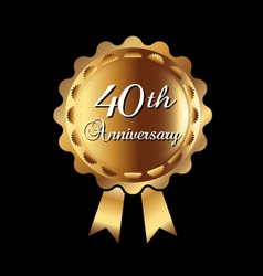 40th Anniversary medal vector image vector image