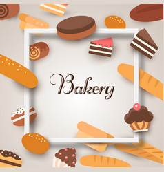 bakery banners baking bread and cakes vector image