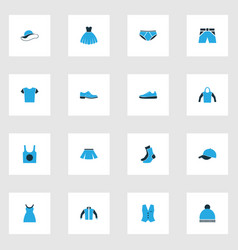 clothes colorful icons set collection of evening vector image