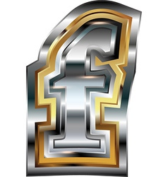 Fancy font Letter f vector image vector image