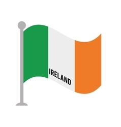 ireland patriotic flag isolated icon vector image vector image