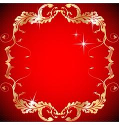 Ornate vintage floral frame Design for invitations vector image
