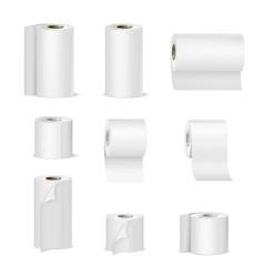 paper towels toilet rolls realistic vector image