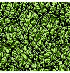 Seamless pattern with green hops vector