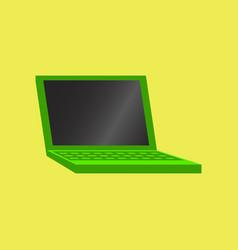 technology gadget in flat design laptop vector image