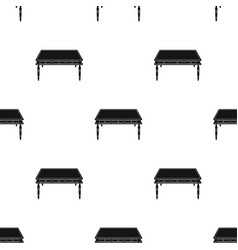 wooden table icon in black style isolated on white vector image vector image