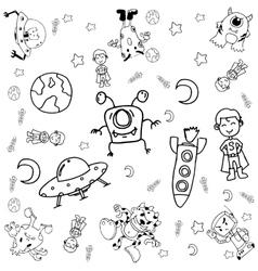 Doodle galaxy a funny vector image vector image