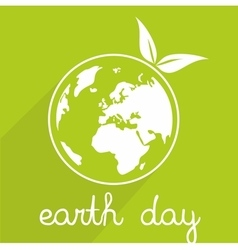 Earth day icon with planet vector image vector image