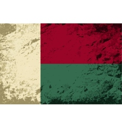 Madagascar flag Grunge background vector image vector image
