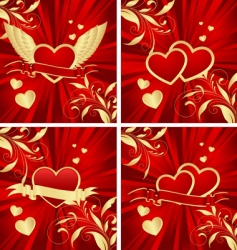 valentines backgrounds vector image vector image