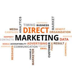 Word cloud direct marketing vector