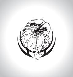 eagle head line art vector image vector image