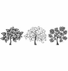 fantasy trees vector image vector image