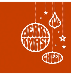 Christmas ornaments with the words vector image vector image