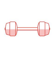 dumbbells sport gym flat shadow vector image vector image