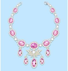 female necklace of precious stones vector image vector image