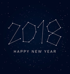 new-year-2018-stars-sky vector image