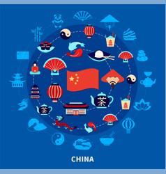 travel to china set vector image