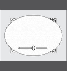 wedding template frame vector image