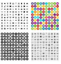 100 gadget icons set variant vector image