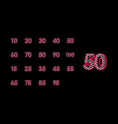 50 years anniversary line design set logo template vector