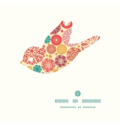 Abstract decorative circles bird silhouette vector