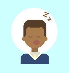 African american male sleeping emotion profile vector
