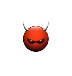 angry devil icon vector image