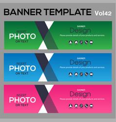 Bannertemplate for business webdesign vector