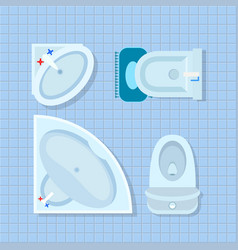 bathroom interior design on vector image
