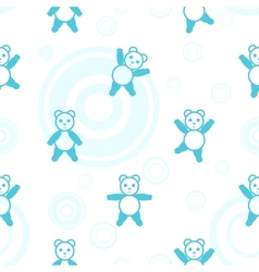 Bear seamless pattern vector image