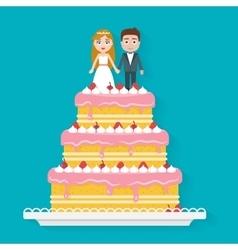 Big wedding cake vector image