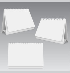 Blank calendar mockup different views vector