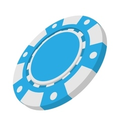 Blue casino token cartoon icon vector image
