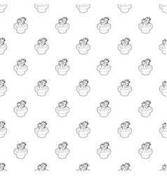 cactus pattern seamless vector image