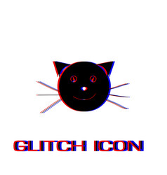 cat face icon flat vector image