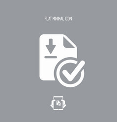 check secure download - flat minimal icon vector image