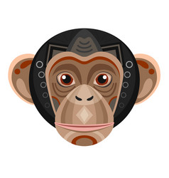 Chimpanzee head logo monkey decorative vector
