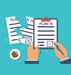 Concept a backup plan vector