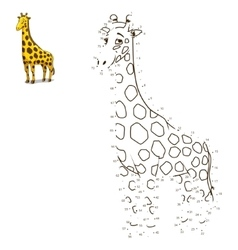 Connect the dots to draw animal vector