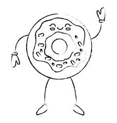 Delicious donut cartoon vector