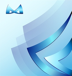 Design e letter m BLUE vector