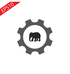 elephant icon internet button on white background vector image