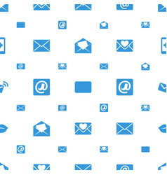 Email icons pattern seamless white background vector