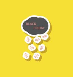 Fashion patch sale sticker black friday rain cloud vector