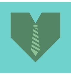 Flat icon on stylish background heart tie vector