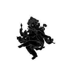 ganesa-shadow vector image