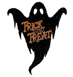 Ghost trick or treat vector